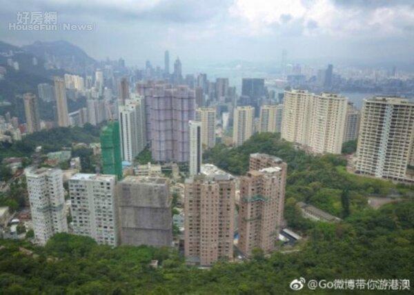 7.香港島大樓豪宅多,中環、灣仔房價高不可攀。(翻攝自Go微博帶你遊港澳微博)
