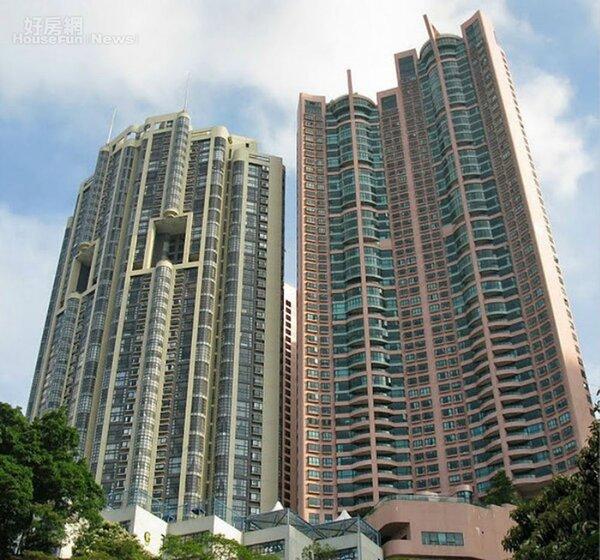 5.港島中半山「裕景花園」近金鐘地鐵站。(翻攝自香港美聯物業微博)