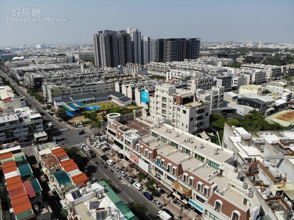 台南永康區街景空拍照(圖/有巢氏房屋提供)
