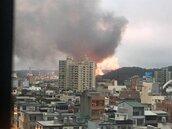 中油桃園煉油廠清晨驚傳爆炸 烈焰沖天