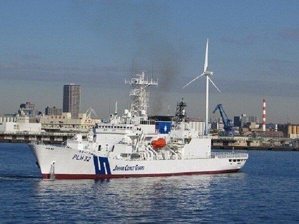PLH32 秋津島號巡視船屬於敷島型巡視船(しきしま型),直到2014年12月都還是世界最大的海上巡視船,標準噸位約6500噸,滿載噸位為7175噸。均歸屬橫濱第三管區海上保安本部。圖/日本海上保安廳