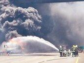國道驚魂!油罐車陷火海險爆炸