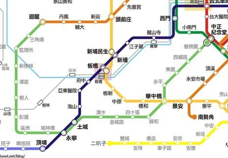 淺綠色為捷運萬大線。(圖/截自台北捷運路網圖)