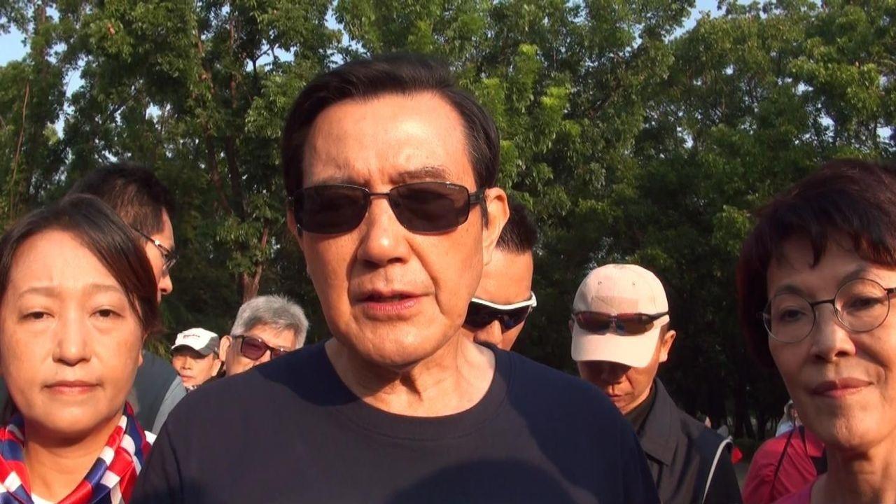 前總統馬英九(中)認為桃園觀塘天然氣接收站案的環評,不宜用來做政治交換。記者楊濡嘉/攝影