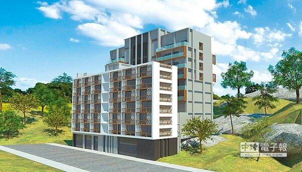 合勤建設攜手銀行積極打造共生宅,圖為正要打造「二代」共生宅的苗栗共生宅3D圖,預計今年4月動工。圖/合勤建設提供