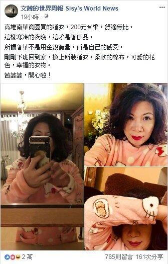 陳文茜於臉書推廣南華商圈,盼能重振舊商圈。(圖/擷取自文茜的世界周報 Sisy's World News)
