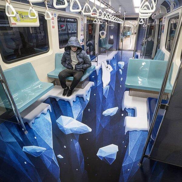 台北捷運彩繪列車。(圖/Ash Design/壹肆設計提供)