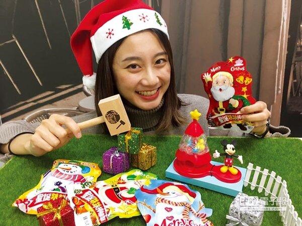 超商搶推耶誕應景商品,搶攻節慶商機。圖為OK超商推出的耶誕糖果餅乾等零食,光是外包裝就有濃濃過節氣氛。圖/業者提供