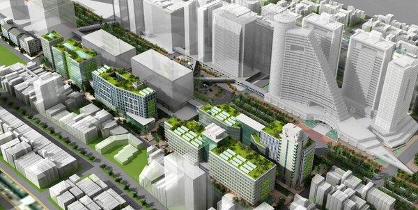 高雄火車站東側舊宿舍區,大約2.77公頃的精華土地,台鐵將在農曆年後公開招商。台鐵提供