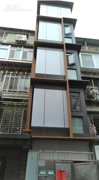 台北市新增一例老舊公寓補助增設電梯的完工案例,位於大安區和平東路2段。台北市都更處提供
