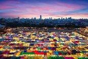 這座夜市宛如彩色方塊拼成 觀光客自拍新熱點