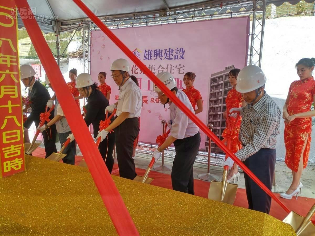 台北市第一件危老重建案,18日上午舉行開工動土典禮。照片台北市建管處提供