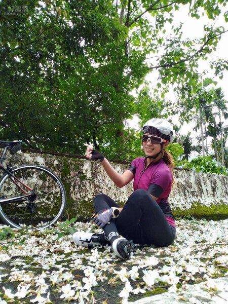 假日時Windy常會到東眼山騎車和跑步。(段慧琳提供 請勿使用)
