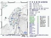 台東密集4次餘震 氣象局:不排除再出現規模5餘震