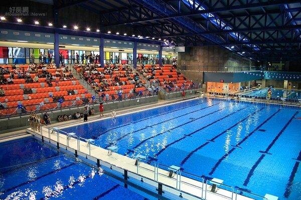 台北市松山運動中心一樓50公尺游泳池。 圖/松山運動中心提供