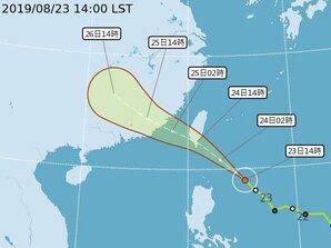 白鹿颱風陸警發布 台中以南都籠罩在暴風圈