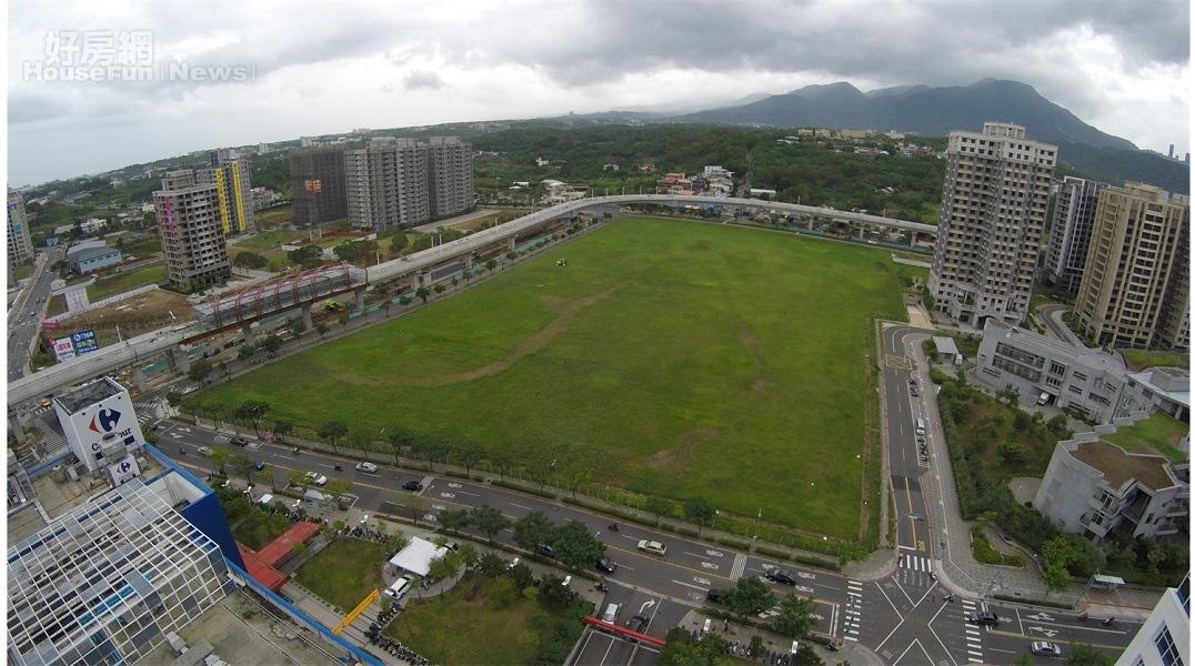 營建署表示,位於淡海新市鎮輕軌捷運淡水行政中心站附近的3.68公頃國有地,已經完成開發規劃。照片營建署提供