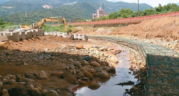 磺溪清水堤防防災減災工程第1期預定今年底前完成,保障居民生命財產安全。 圖/十河局提供