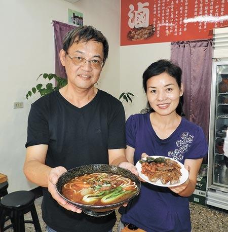 台大人劉啟杰與太太黄明元的26味元湘味館,赢得網友口碑。(陳世宗攝影)