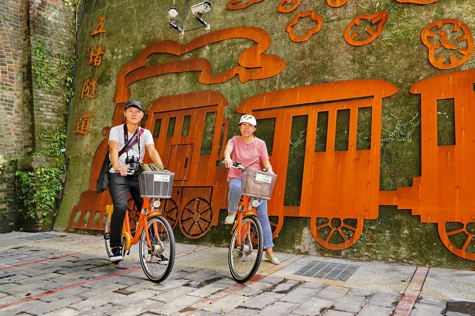 基隆河全程14公里河濱自行車道路網。圖/新北市水利局提供