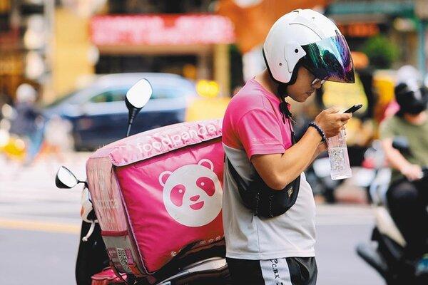 foodpanda外送員。圖/中時報系資料照片