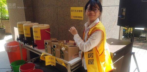 永慶房屋一同參與中元普渡活動。永慶房屋提供。