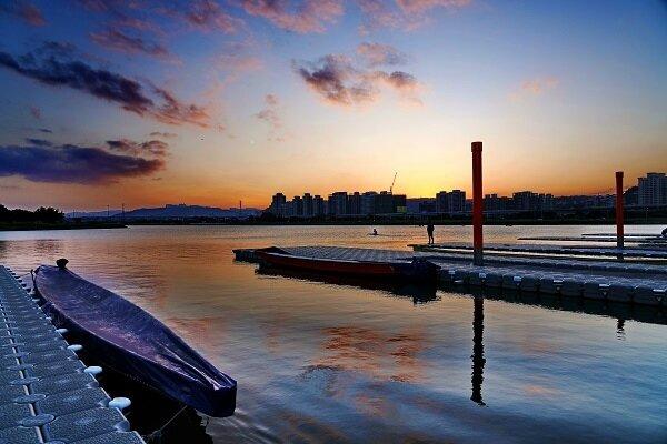 微風運河的浮動碼頭。圖/新北市政府提供