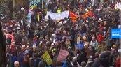 法國大罷工繼續擋年改 老師、醫護也加入