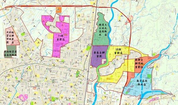 北屯區重大開發區範圍圖