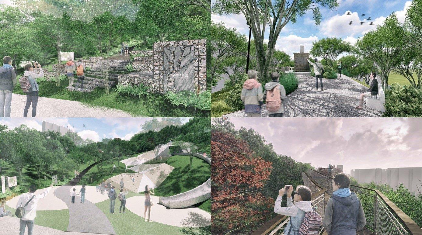 文山森林公園預想圖。圖/台北市大地處提供