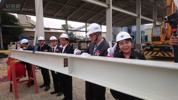 國內建材大廠國產實業在嘉義投資全台首間輕質隔間磚廠,12月27日舉辦上樑儀式。照片國產實業提供