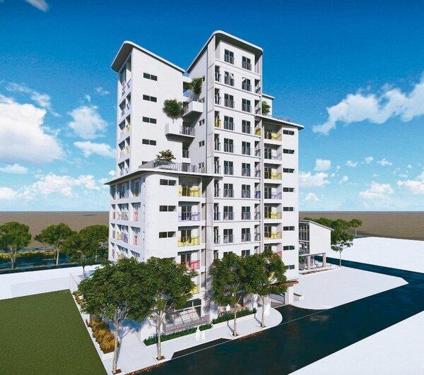 高雄市都發局宣布推出114戶「三民區中都社會住宅」,提供青年及年輕小家庭入住。 圖/高雄市都發局提供