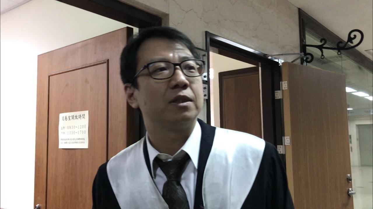 馬妻梁敏婷委任律師林晉宏。記者陳慧貞/攝影