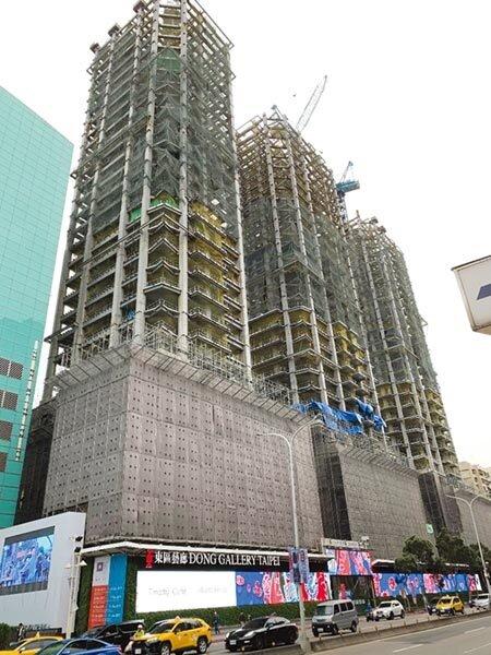 「Diamond Towers」預計16日上樑,可望成為今年豪宅指標大案。圖/蔡惠芳