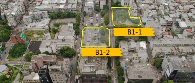 台北市信義區兒福B1-1及B1-2基地,位於松信路兩側。照片國家住都中心提供
