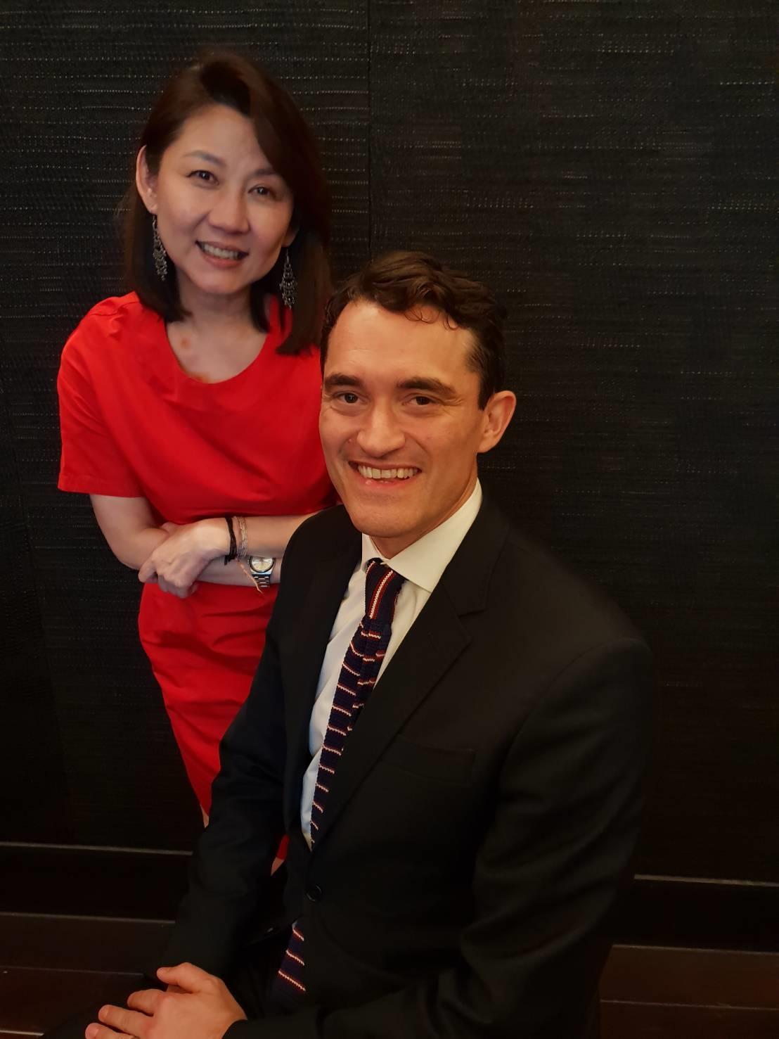 佳士得亞太區總裁龐智鋒(右)與佳士得亞太區副主席翁曉惠。圖/記者陳宛茜/攝影
