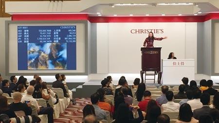 台人購藏力驚人,平均一年在佳士得交易逾80億台幣,購入又比賣出多,且半數成交總額集中在亞洲及世界藝術。圖/中時資料照