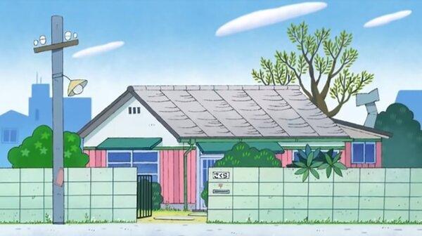 《櫻桃小丸子》中的小丸子家,外觀是傳統的日式設計。圖/翻攝Youtube