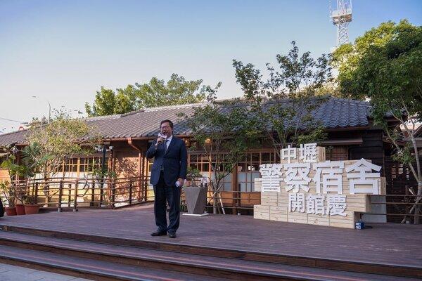 「壢景町」15日開館,桃園市長鄭文燦出席致詞。圖/桃園市政府提供