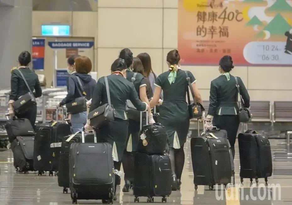 交通部拍板,國籍航空公司機組員返台五天內不得外出。聯合報系資料照