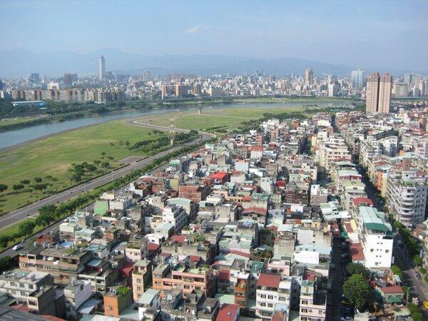 永和大陳社區鳥瞰圖。圖/新北市政府提供