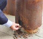 南方澳大橋翻版?羅東文化工場鋼柱鏽蝕一片片剝落
