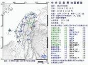 晚間七時花蓮規模5.5地震!北台有感連兩震 花蓮震度4級