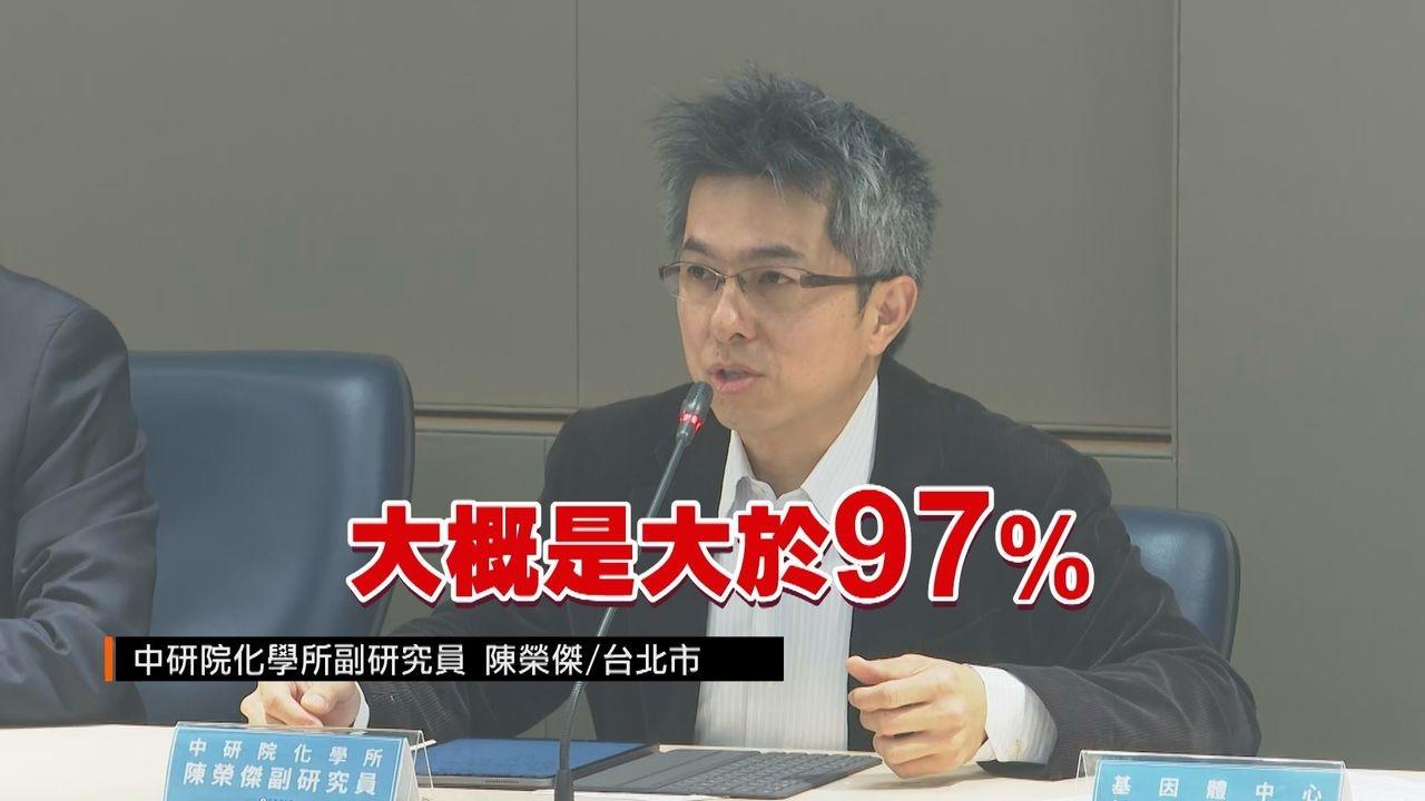 中研院研究團隊宣布台灣已成功合成百毫克級的新冠肺炎(COVID-19)治療用藥「瑞德西韋」,而且純度更高達97%。記者王彥鈞攝影