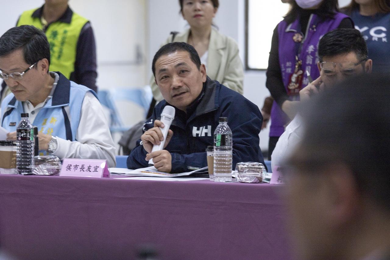 新北市長侯友宜今到蘆洲進行行動治理座談會。記者王敏旭/攝影