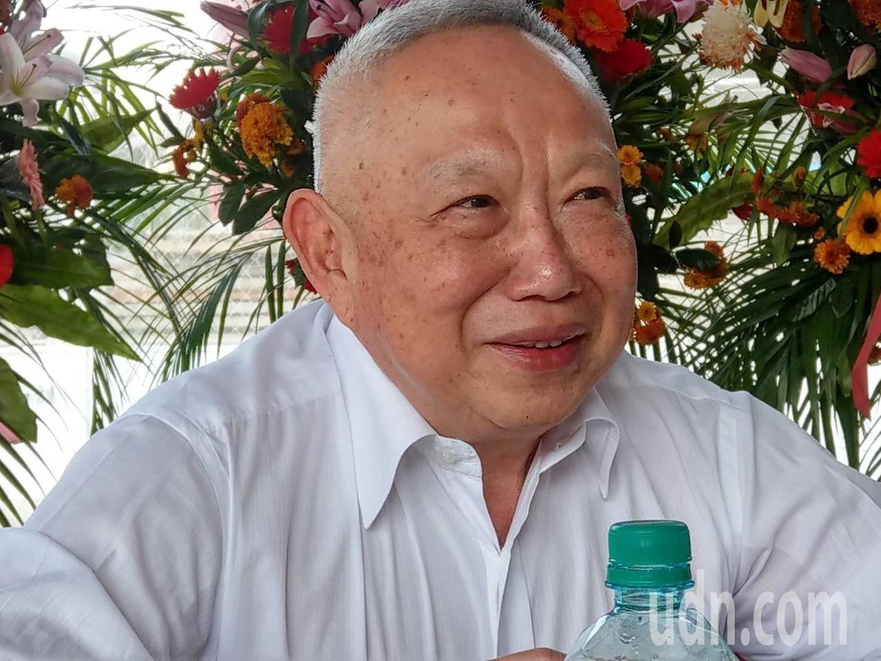 富邦建設董事長薛昭信最近在高雄談到新冠肺炎對房市影響。(聯合新聞網)