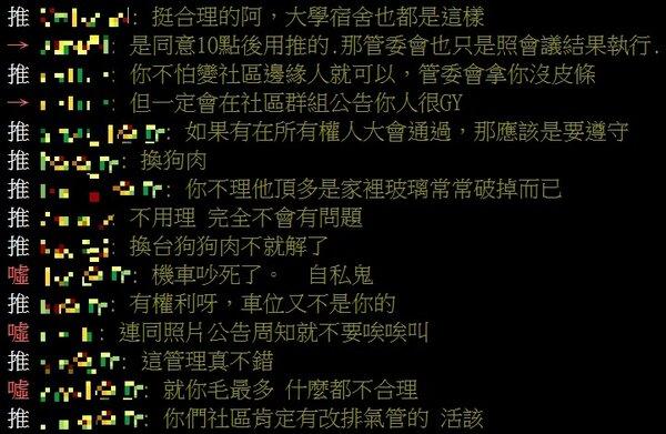 一名網友認為自家社區中某條規約不合理PO網詢問,結果反被網友「洗臉」。圖/翻攝PTT