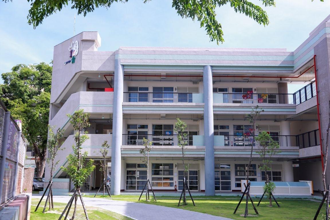 潭子國小新大樓命名為「彩舍」。圖/台中市教育局提供