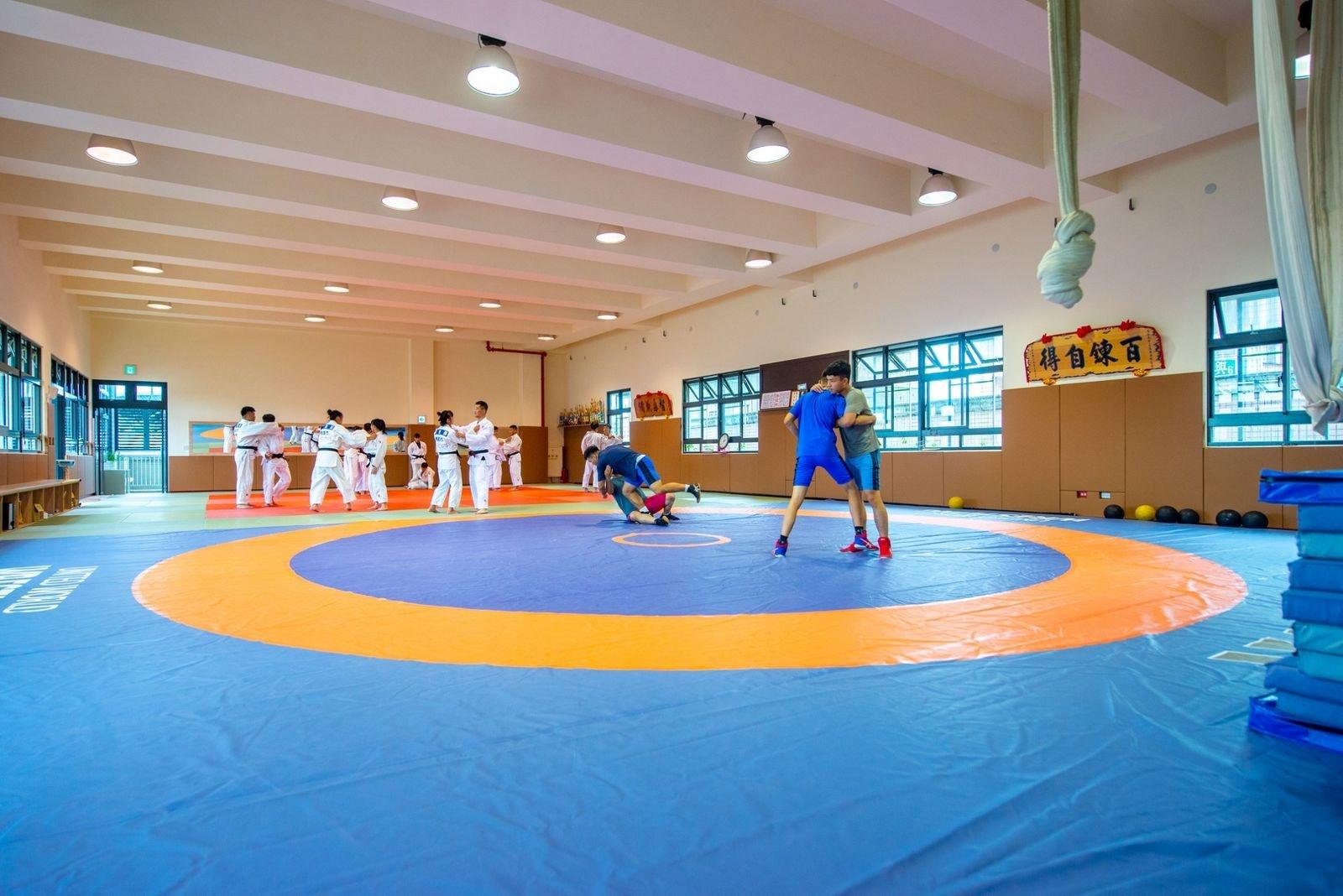 壽山高中體育訓練中心室內練習場。圖/桃園市政府提供