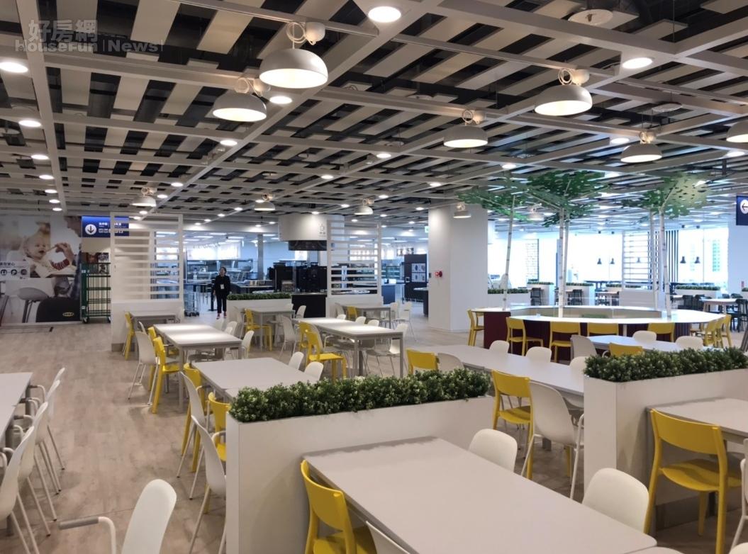 IKEA新桃園店擁有755個座位,是全台6家IKEA當中,最大的景觀餐廳。好房網News記者李彥穎攝